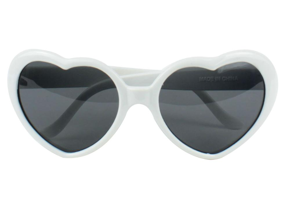 Free Shipping !!!Free shipping !!  Fashion Oversized Heart Shaped Plastic Frame Sunglasses Eyewear,White, 2 PCS/LOT-in Sunglasses from Apparel & Accessories on Aliexpress.com