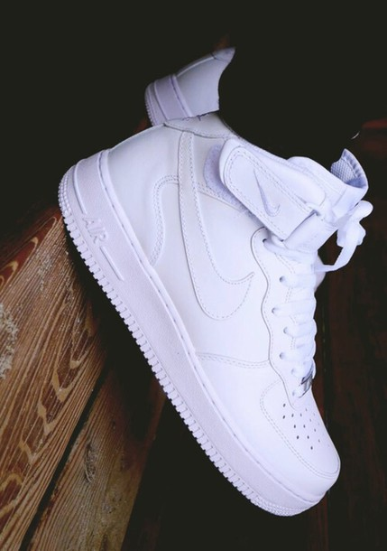 shoes nike air force 1 nike shoes nike high tops white air max high top sneakers white sneakers nike