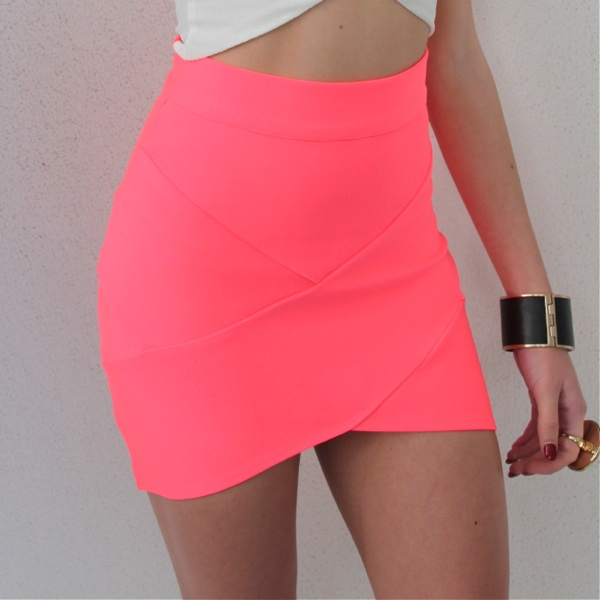 PINK BANDAGE WRAP TUBE DISCO SKIRT 6 8 10 12 | eBay
