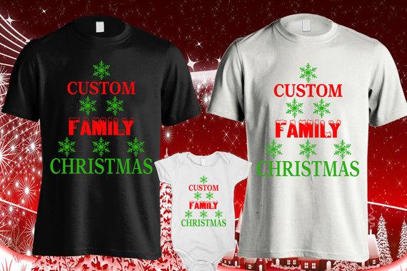 Family name Christmas shirts, Christmas family shirts, Custom ...