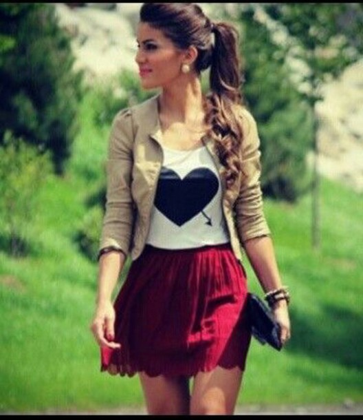 dress lovely dance heart skirt shirt dressy tops cute skirt jacket blouse date outfit