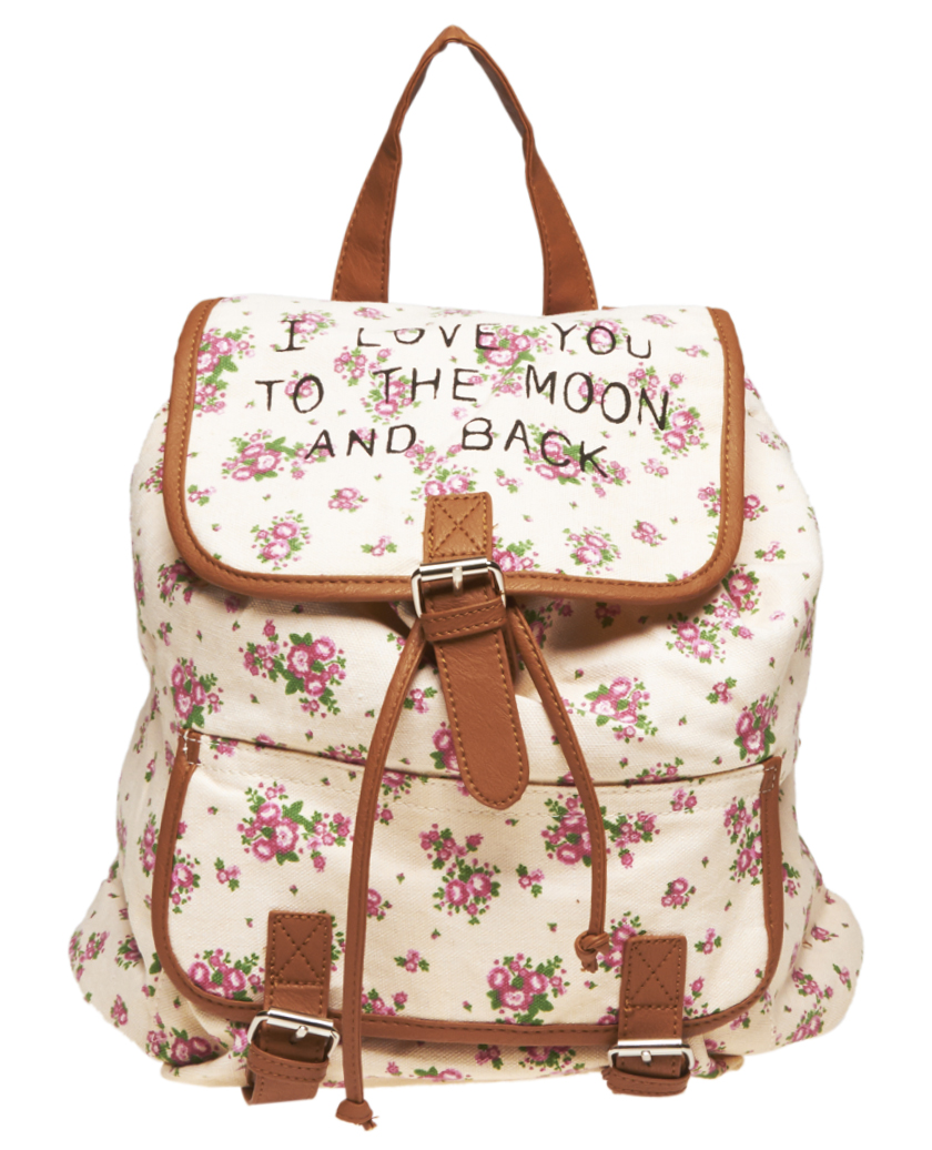 The Moon & Back Floral Backpack | Wet Seal