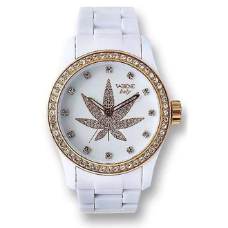 jewels white watch weed watch white and gold watch sky blue white gold