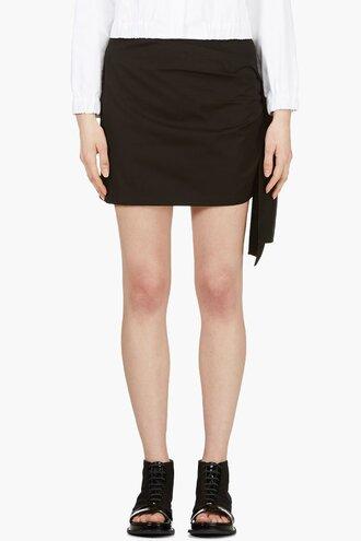 black ribbon skirt women tie