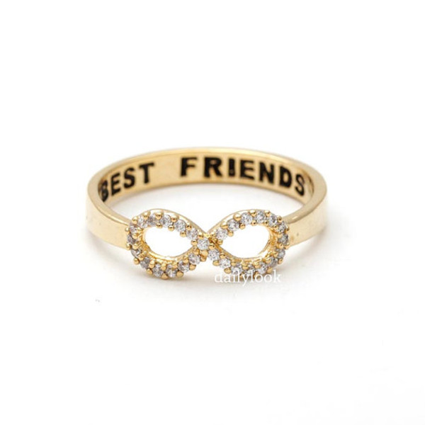 jewels jewelry infinity ring infinity best friend ring bbf ring bbf best friend infinity ring