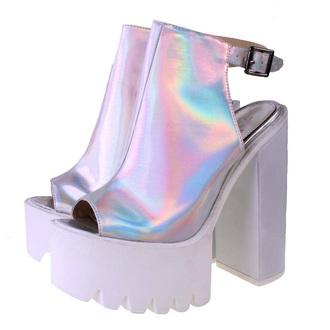 shoes holographic shoes platform shoes