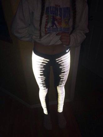 leggings glow in the dark black sportswear