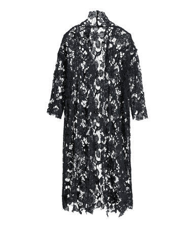 H&m long lace cardigan £30