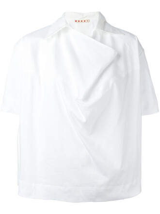shirt oversized women white cotton top