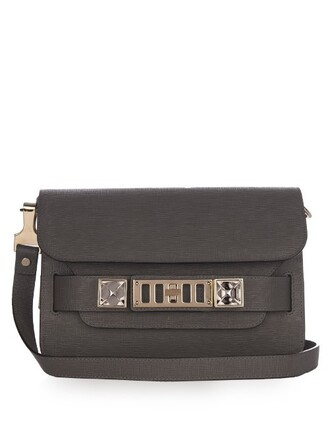 mini bag shoulder bag leather grey