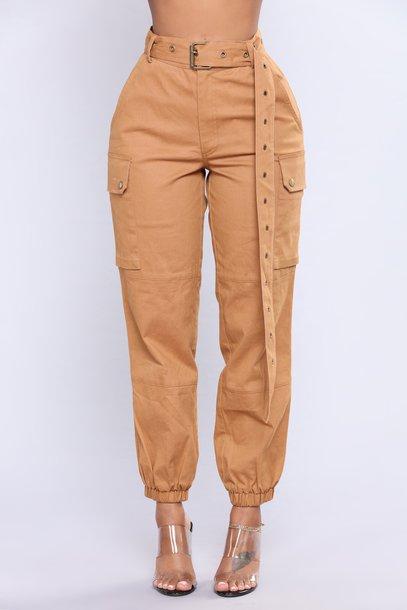 ce925f46a38b4 leggings camel khaki mustard high waisted high waisted pants high waisted  leggings cargo pants high waisted