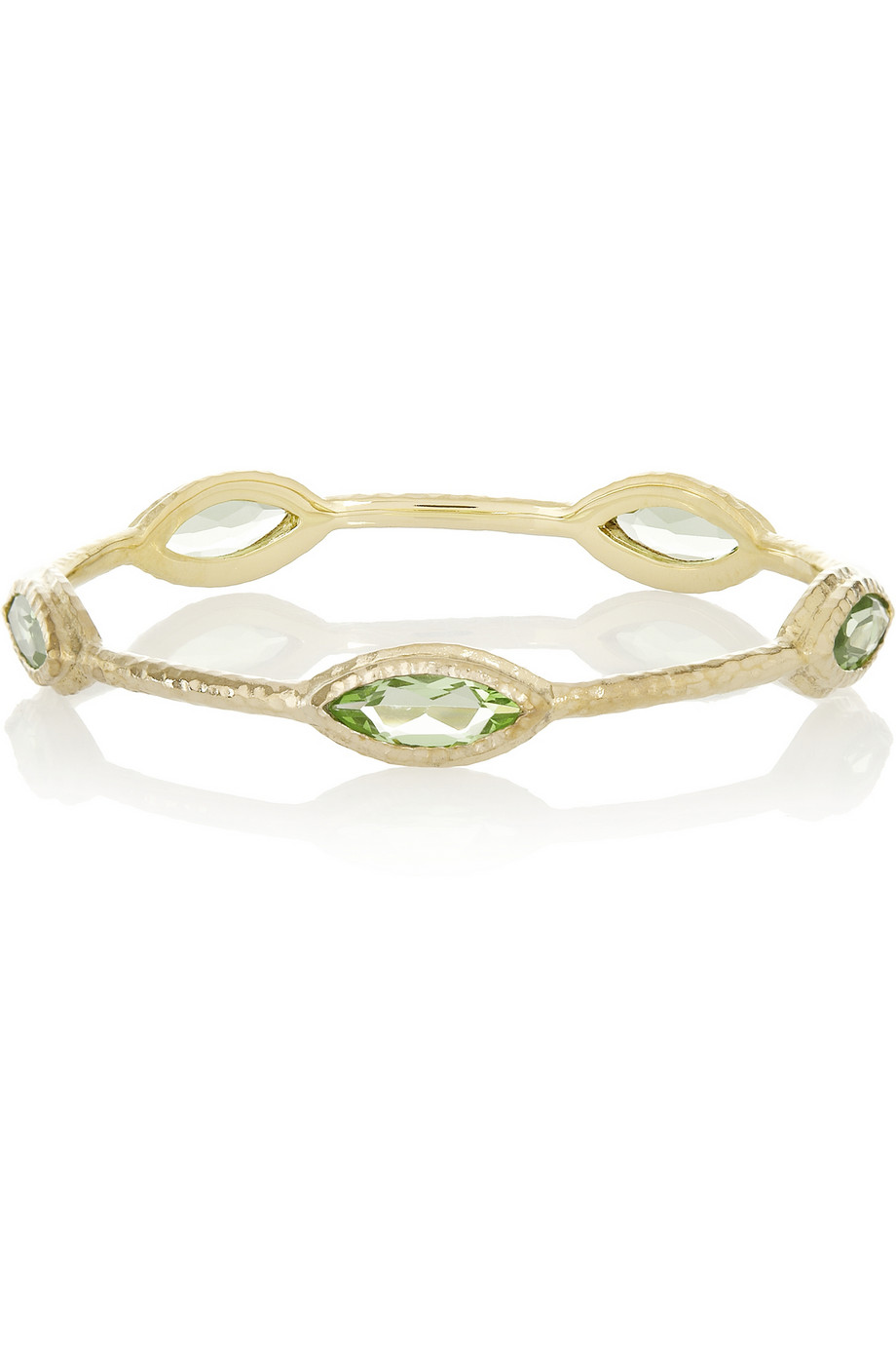 Plated crystal bangle