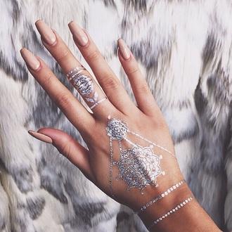 make-up metallic tattoo metallic tattoo