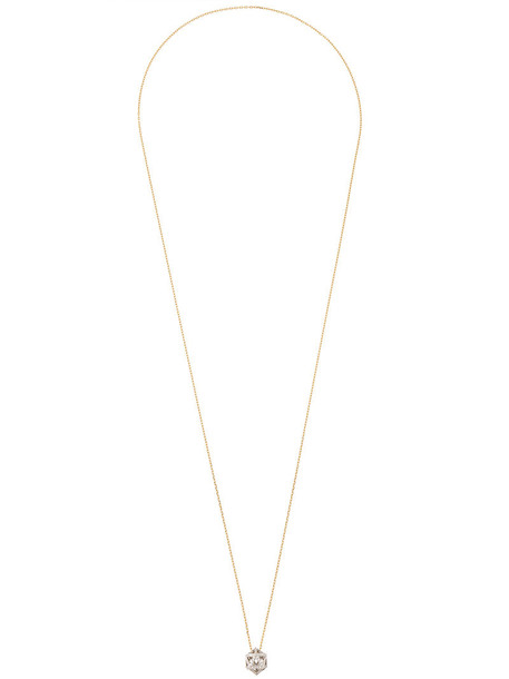 Noor Fares women necklace pendant gold white yellow grey metallic jewels