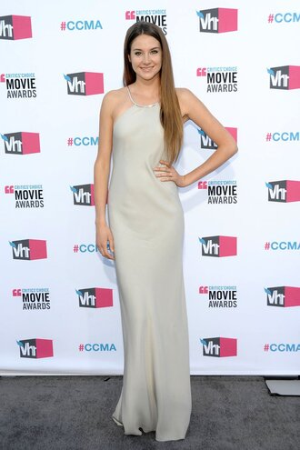 dress shailene woodley celebrity red carpet dress calvin klein dress calvin klein grey dress maxi dress
