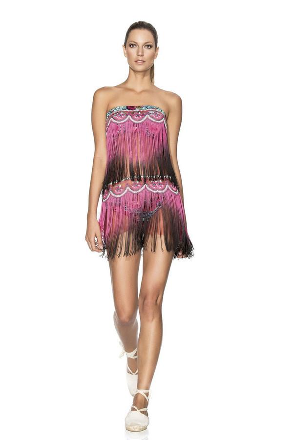 dress agua bendita dress fashion lace embellishments luxury flamenco high-low dresses bikiniluxe