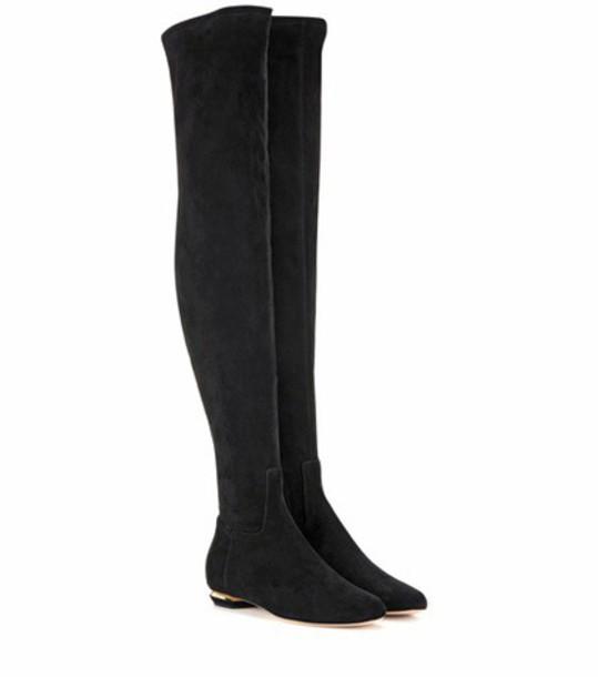Nicholas Kirkwood Beya Suede Over-the-knee Boots in black