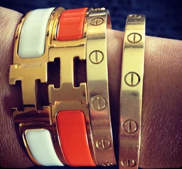 a93e9cedac835 jewels hermes cartier hermes bracelet clic h bracelet hermes cuff h logo bracelet  cartier love bracelet