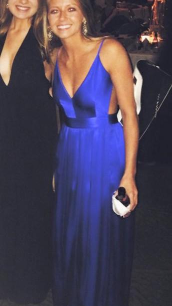 dress blue silk dress