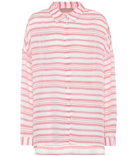 81hours Federic striped shirt in white