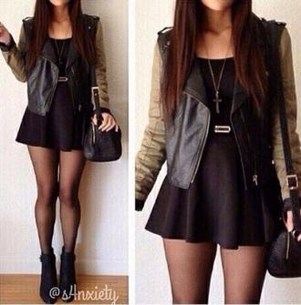 jacket black leather