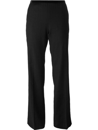 women spandex cotton black wool pants