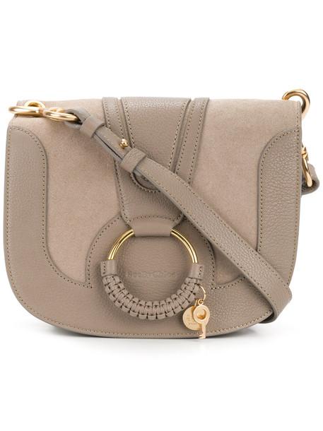 See by Chloe women bag shoulder bag leather suede grey