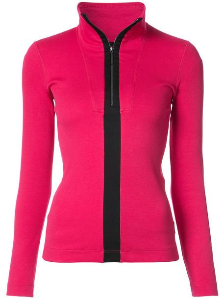 blouse women cotton purple pink top