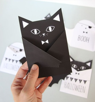 home accessory cats bat cute card