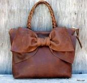 bag,bow bag,leather bag,bow,handbag,leather,braid,purse,stacy leigh