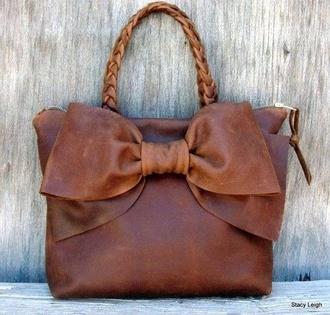 bag leather bag bow bag handbag bows leather braid purse stacy leigh
