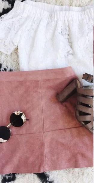 skirt pink skirt mini skirt