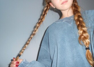 sweater blue sweatshirt tumblr girl cute oversized oversized sweater acid wash urban hipster grunge goth hipster