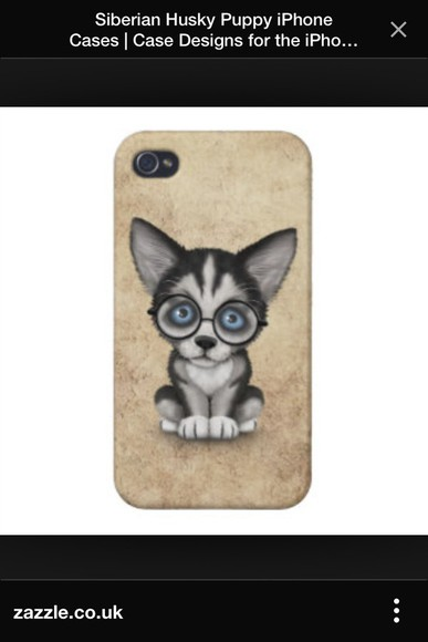 glasses phone case husky dogs geek phone case iphone 4 case