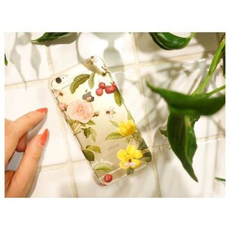 phone cover yeah bunny floral iphone iphone cover iphone case cherry