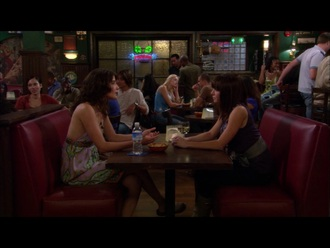 dress purple silk gray bow alyson hannigan lily aldrin how i met your mother