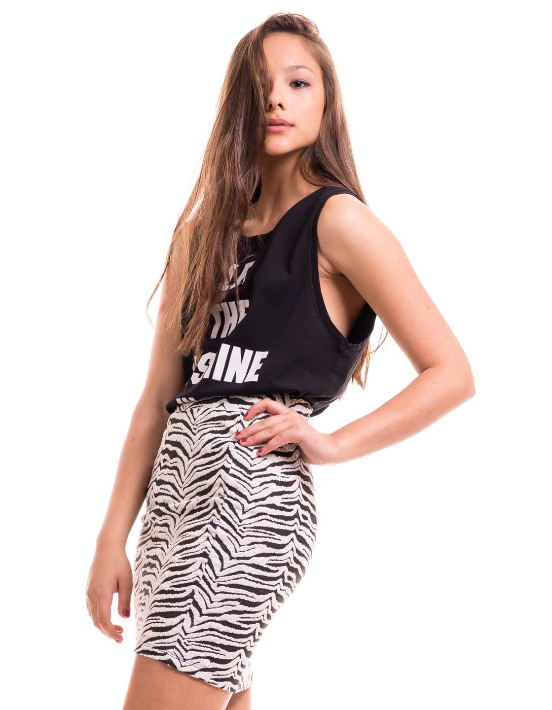 Falda estampado cebra Zebrana de Vila