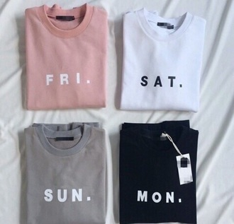 shirt pink grey white weekday day t-shirt colorful cool trendy spring outfit look