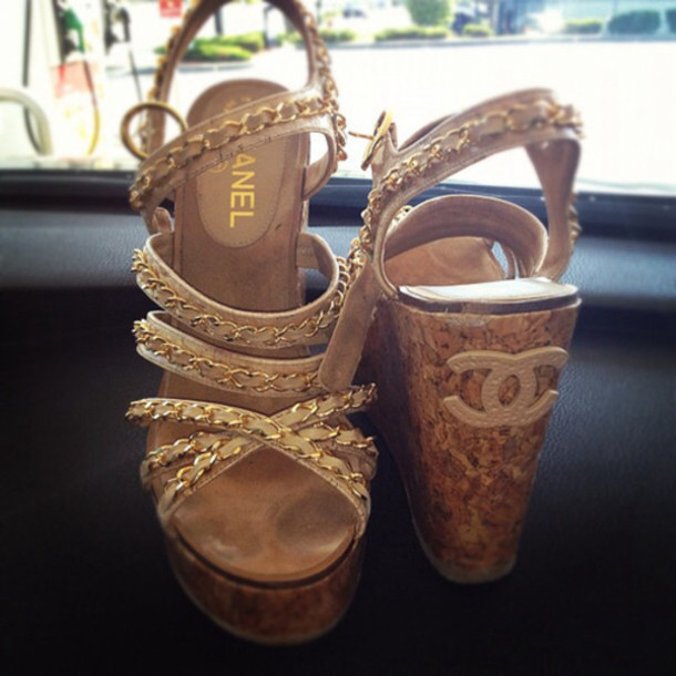 6418e8ac49f shoes cc shoes chanel wedges wedge heels chain boots celebrity heels  fashion shoes.
