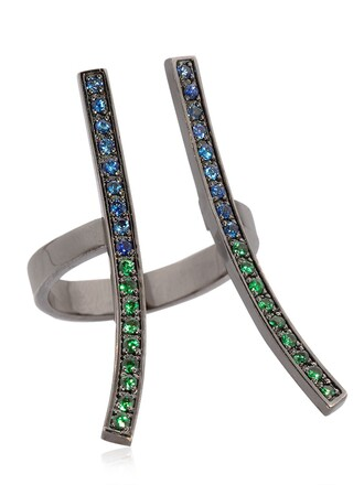 open ring blue green jewels