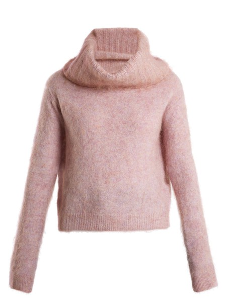 Acne Studios sweater mohair light pink light pink