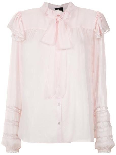 Andrea Bogosian shirt women nude silk top