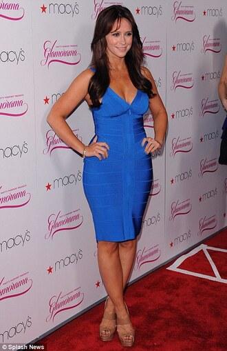dress bandage dress midi dress celebrity style celebrity blue dress zip dress jennifer love hewitt bodycon dress sexy dress
