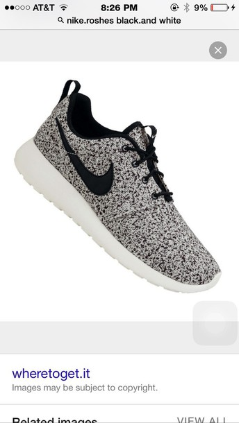 shoes black and white pattern roshes s wheretoget