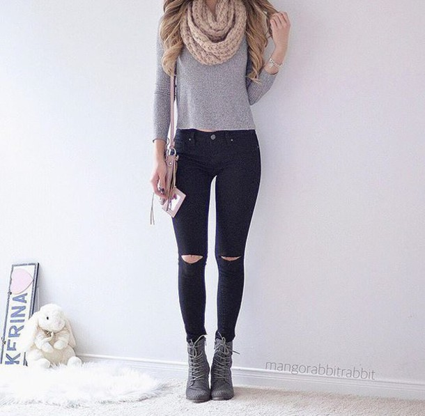 grey black jeans - Jean Yu Beauty