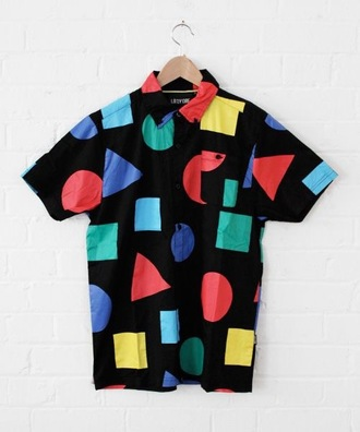 shirt retro 90s style collar shirt