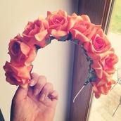 jewels,flowers,hair band,headband,flower crown