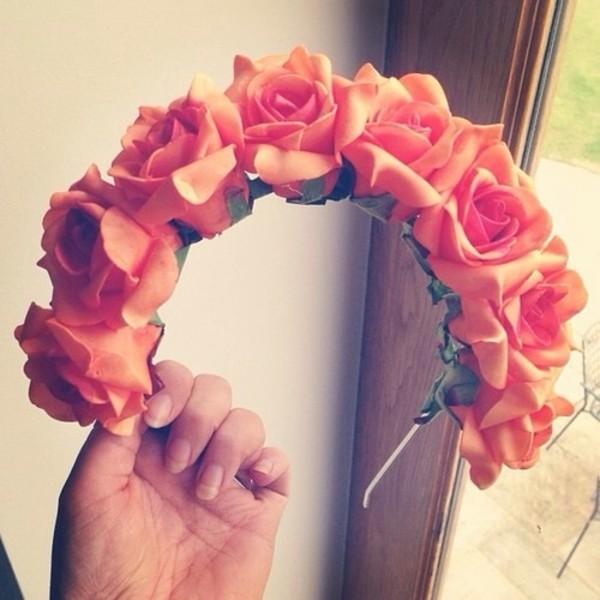 jewels flowers hair band headband flower crown