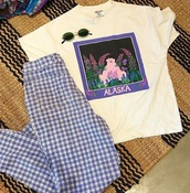 pants,plaid,blue,plaid pants,indie,tumblr,artsy,hipster,shirt,floral shirt,vintage