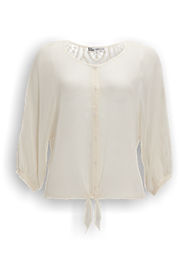 Crochet Blouse Offwhitewit - The Sting